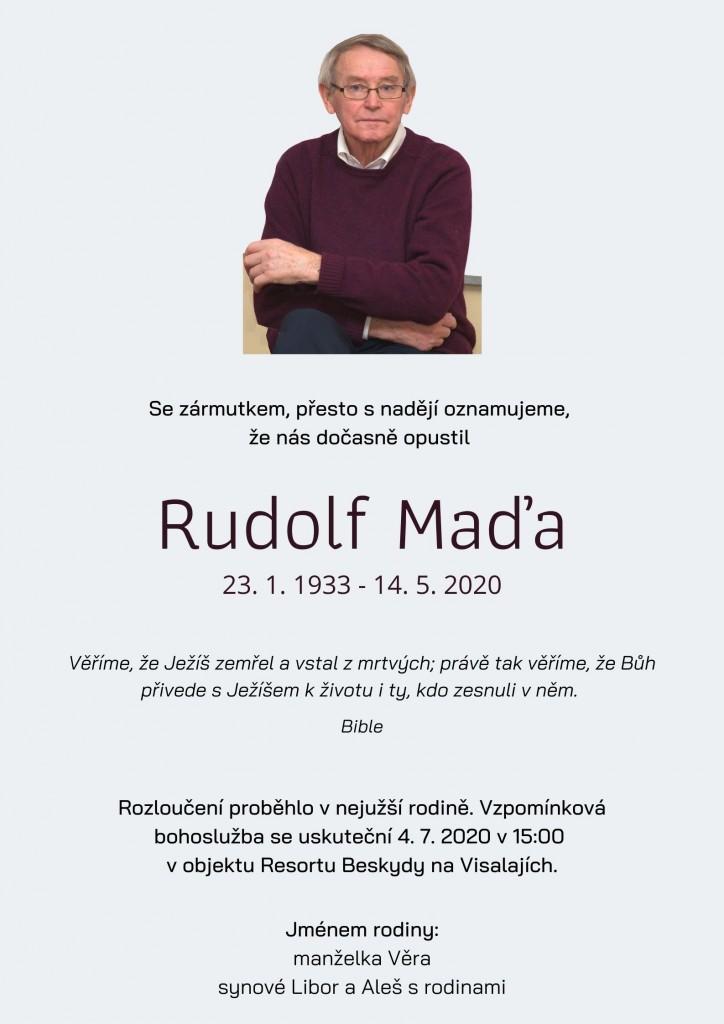 Smutecni oznameni Rudolf Mada